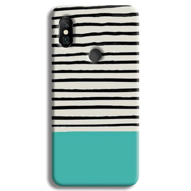 Aqua Stripes Redmi Note 6 Pro Case