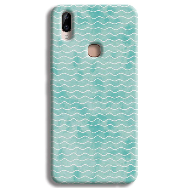 Wavy Blue Pattern Vivo Y83 Pro Case