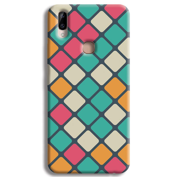 Colorful Tiles Pattern Vivo Y83 Pro Case