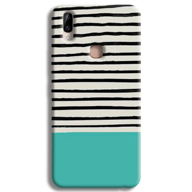 Aqua Stripes Vivo Y83 Pro Case