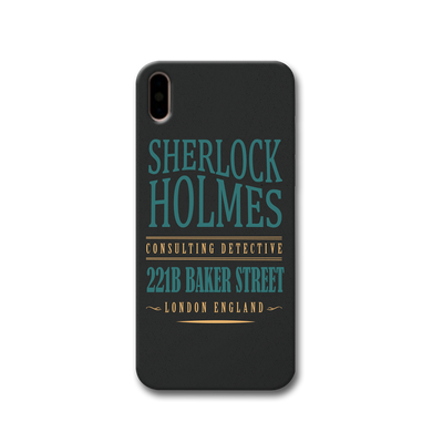 Sherlock Holmes Quote Apple iPhone X Case