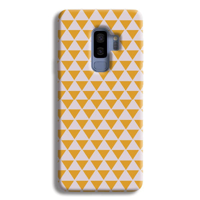 Yellow Triangle Samsung Galaxy S9 Plus Case