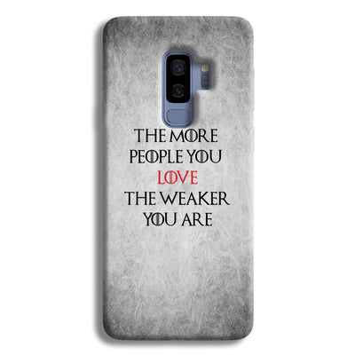 The More People Love You Samsung Galaxy S9 Plus Case
