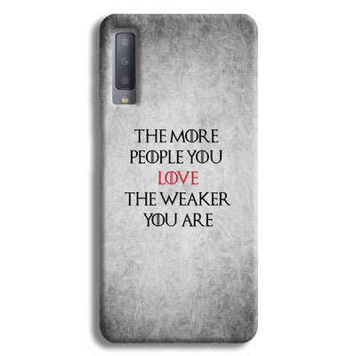 The More People Love You Samsung Galaxy A7 Case