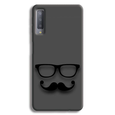 Cute mustache Gray Samsung Galaxy A7 Case