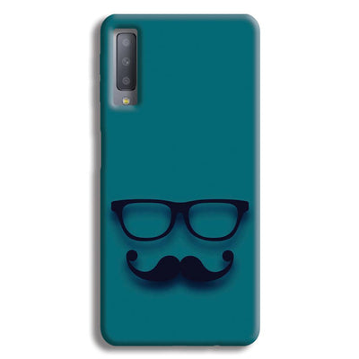 Cute mustache Blue Samsung Galaxy A7 Case