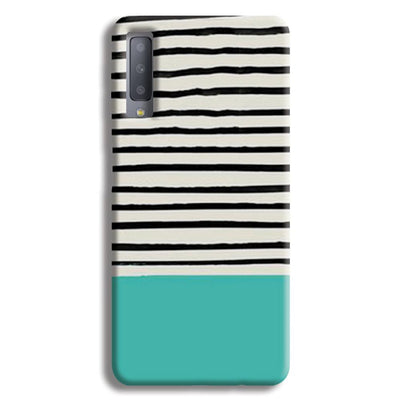 Aqua Stripes Samsung Galaxy A7 Case