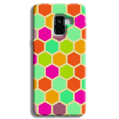 Hexagon Color Pattern Samsung Galaxy A8 Plus Case