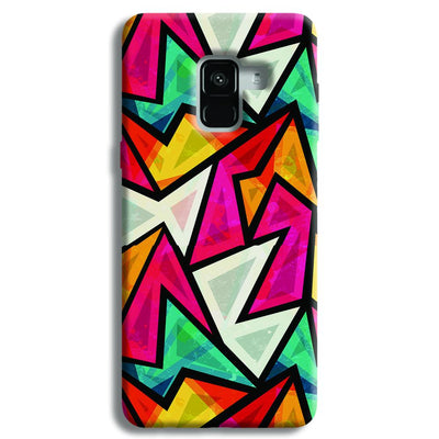 Angular Pattern Samsung Galaxy A8 Plus Case