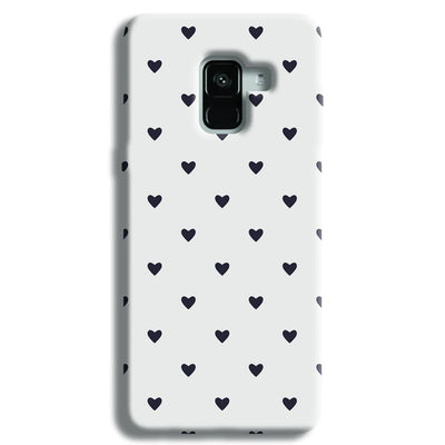 Black Heart Pattern Samsung Galaxy A8 Plus Case