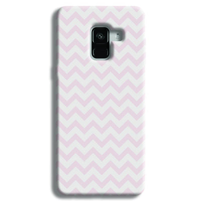 Light Pink Chevron Pattern Samsung Galaxy A8 Plus Case