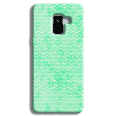Wavy Blue Pattern Samsung Galaxy A8 Plus Case