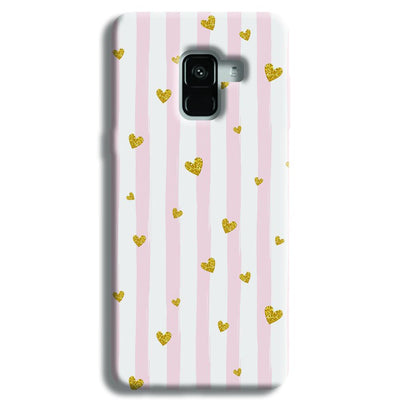 Cute Heart Pattern Samsung Galaxy A8 Plus Case