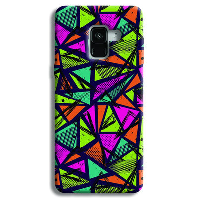 Geometric Color Pattern Samsung Galaxy A8 Plus Case