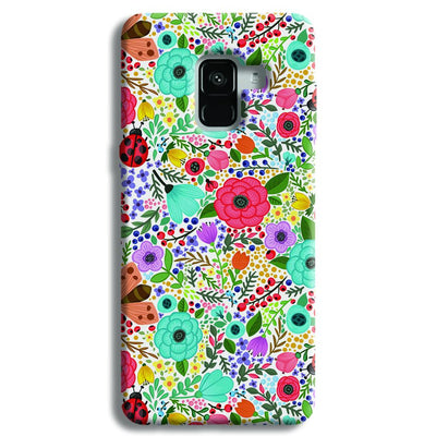 Floral Pattern Samsung Galaxy A8 Plus Case