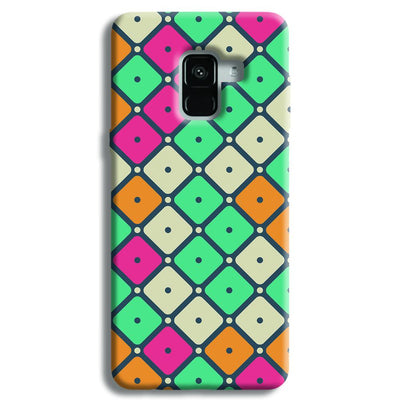 Colorful Tiles with Dot Samsung Galaxy A8 Plus Case