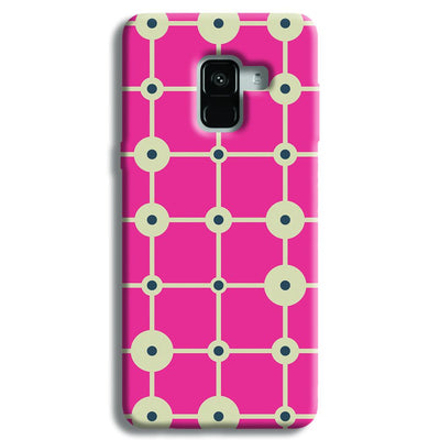 Pink & White Abstract Design Samsung Galaxy A8 Plus Case