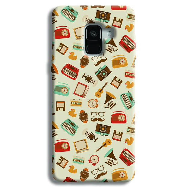 Vintage Elements Pattern Samsung Galaxy A8 Plus Case
