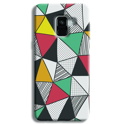 Triangle Abstract Pattern Samsung Galaxy A8 Plus Case