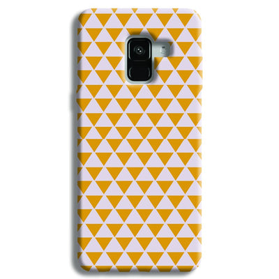 Yellow Triangle Samsung Galaxy A8 Plus Case
