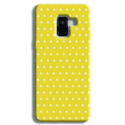 White Triangle Samsung Galaxy A8 Plus Case