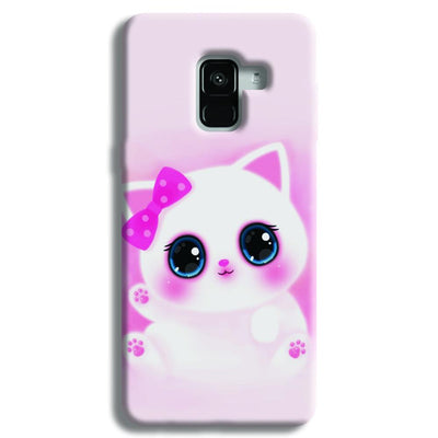 Pink Cat Samsung Galaxy A8 Plus Case