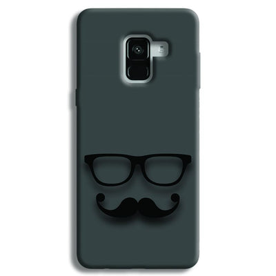 Cute mustache Gray Samsung Galaxy A8 Plus Case