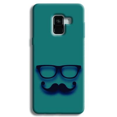 Cute mustache Blue Samsung Galaxy A8 Plus Case