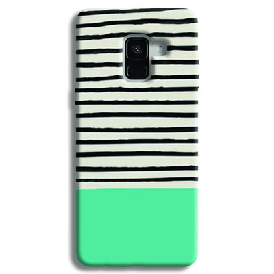 Aqua Stripes Samsung Galaxy A8 Plus Case