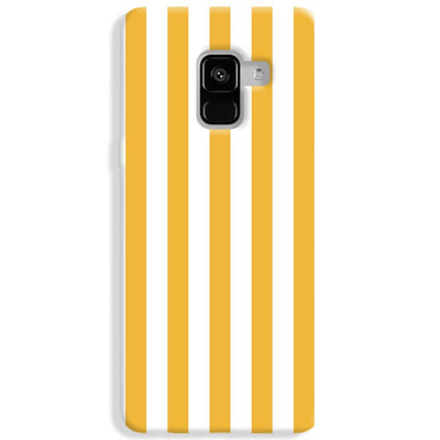 White Yellow Stripes Samsung Galaxy A8 Plus Case