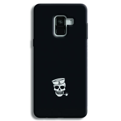 Smoking Skull Samsung Galaxy A8 Plus Case