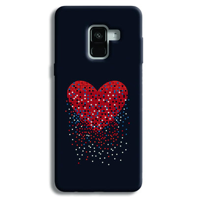 Sparkling Heart Samsung Galaxy A8 Plus Case