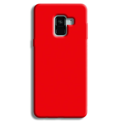 Bright Red Samsung Galaxy A8 Plus Case