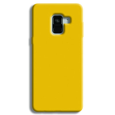 Yellow Crome Samsung Galaxy A8 Plus Case
