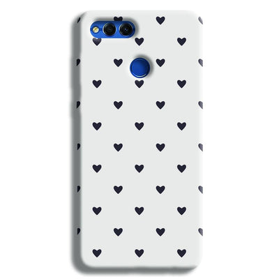 Black Heart Pattern Honor 7X Case