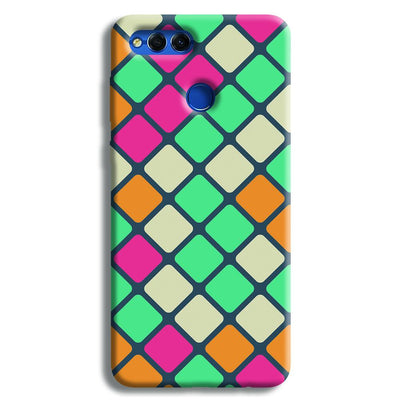 Colorful Tiles Pattern Honor 7X Case