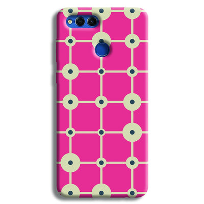 Pink & White Abstract Design Honor 7X Case