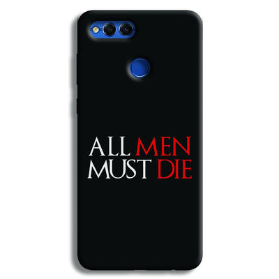 ALL MEN MUST DIE Honor 7X Case