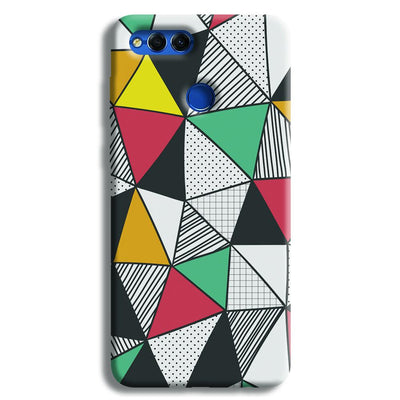 Triangle Abstract Pattern Honor 7X Case