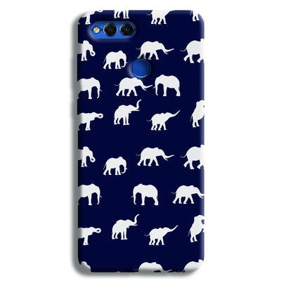 Elephant Pattern Honor 7X Case