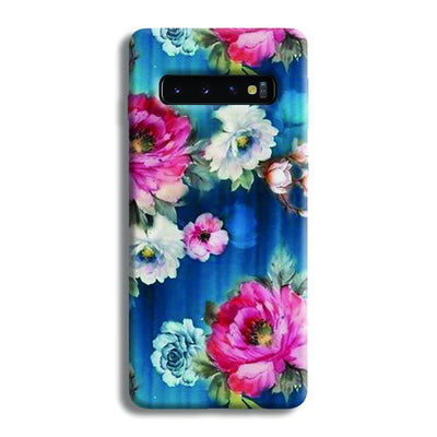 Blue Water Floral Samsung Galaxy S10 Case