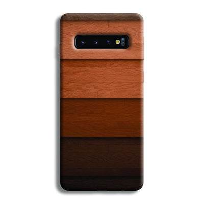 Striped Wooden Pattern Samsung Galaxy S10 Case