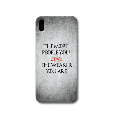 The More People Love You Apple iPhone X Case