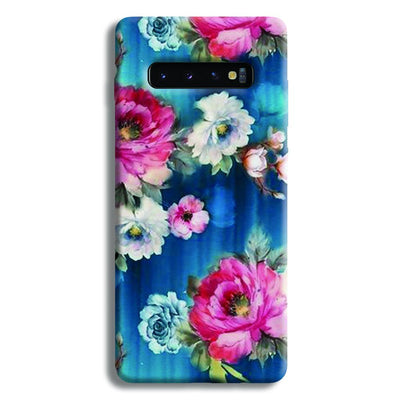 Blue Water Floral Samsung Galaxy S10 Plus Case