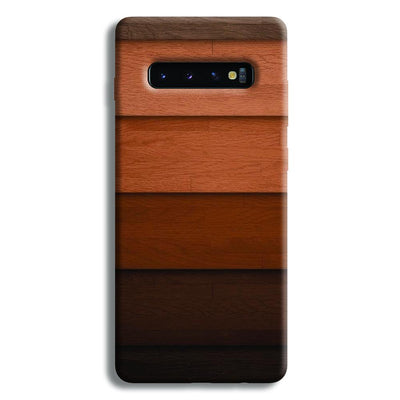 Striped Wooden Pattern Samsung Galaxy S10 Plus Case