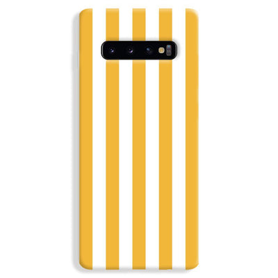 White Yellow Stripes Samsung Galaxy S10 Plus Case