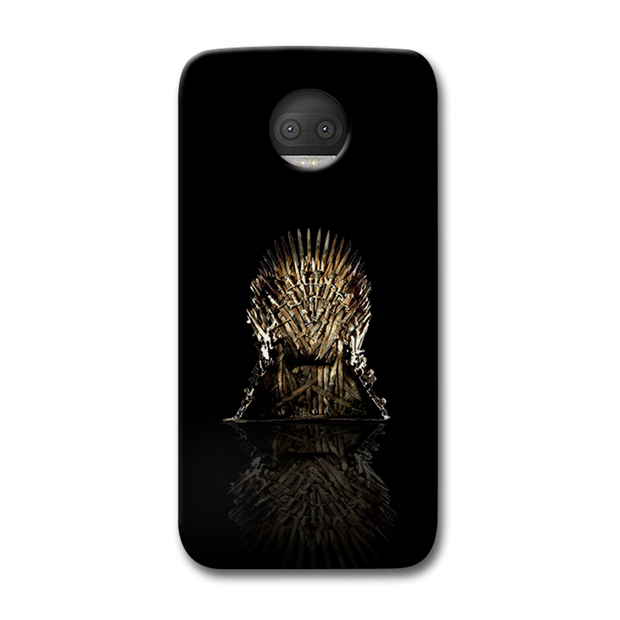 Black Iron Thrones Moto G5s Plus Case