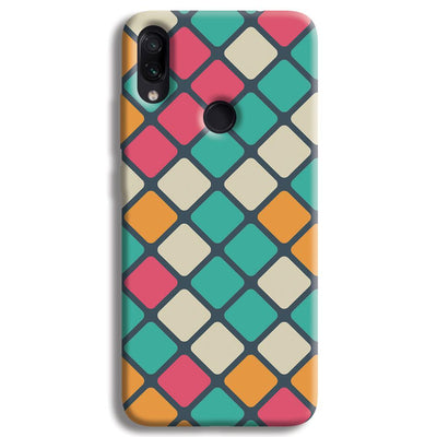 Colorful Tiles Pattern Redmi Note 7 Pro Case