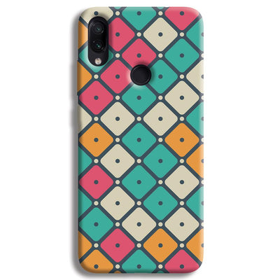 Colorful Tiles with Dot Redmi Note 7 Pro Case