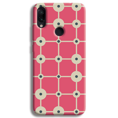Pink & White Abstract Design Redmi Note 7 Pro Case
